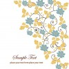 Free Floral Swirl Greeting Card Vector