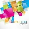 Colorful 3D Cubes Vector Background