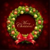 Christmas Wreath Vector Illustration