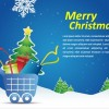 Christmas Shopping Cart Vector Illustration