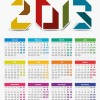 2013 Year Vector Calendar