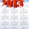 Vector Calendar for 2013