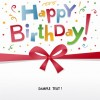 Free Happy Birthday Greeting Card Vector