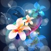Free Abstract Background with Flower Vector Art
