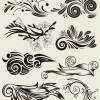 Free Vector Set of Beautiful Floral Elements