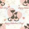 Romantic Seamless Pattern Vector Background
