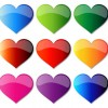 Free Colorful Glass Hearts