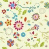 Abstract Flower Pattern Background Vector Graphic