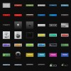 Big Button Collection 250 Free Photoshop Files