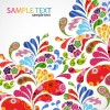 Colorful Floral Design Vector Graphic