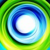 Green Blue Bright Swirl Background