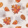 Vector Seamless Background with Autumn Leaves
