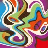 Abstract Colorful Curved Waves Background Vector Illustration