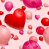 Romantic Heart-Shaped Balloons Valentine&#8217;s Day Vector Illustration