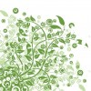 Green Floral Background Vector Art Graphic