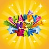 Happy New Year 3D Vector Illustration