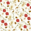 Floral Seamless Background in Retro Colors