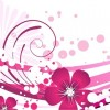 Pink Flower with Abstract Background Vector Graphic