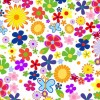 Spring Flowers Background Vector Graphic