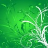Abstract Green Floral Background Vector Illustration