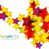 Abstract Colorful Stars Vector Background