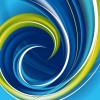 Hi-Tech Swirl Abstract Background Vector Graphic