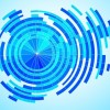 Abstract Tech Blue Background Vector Graphic