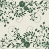 Elegant Green Floral Background Vector Graphic