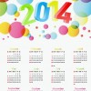 2014 Year Calendar Colorful Design Vector Illustration