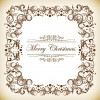 Christmas Decoration Frame Vector Illustration