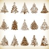 Christmas Tree Vector Graphics Set