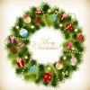 Christmas Garland Wreath Vector Illustration