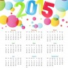 Colorful Calendar 2015 Vector Illustration