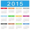 2015 Calendar Vector Illustration