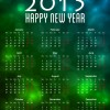 Calendar 2015 with Bokeh Background Vector Illustration