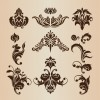 Retro Design Decorative Elements Vector Set