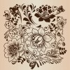 Decorative Flower Pattern Vector Illustration