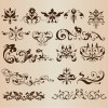 Elegant Decorative Floral Design Elements Vector Collection