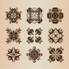 Floral Elements for Decorative Design Vector Illustration