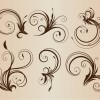 Curly Floral Elements for Design Vector Illustration