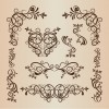Vintage Ornament Floral Design Elements Vector Illustration