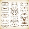 Vintage Ornaments Floral Elements Vector Set
