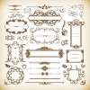 Ornate Design Elements Vector Set