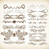 Set of Decorative Elements Vector Illustration for Design