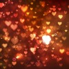 Abstract Bokeh Hearts Vector Background