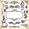 Vintage Pattern Frame Decoration Vector Graphics