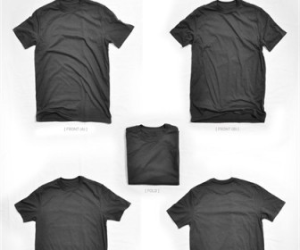 T Shirt Template Blank-white Set