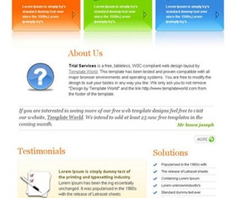 Free XHTML Website Template - Trial Services