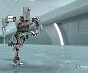 Windows Server 2008 robot ad wallpapers 1920x1200