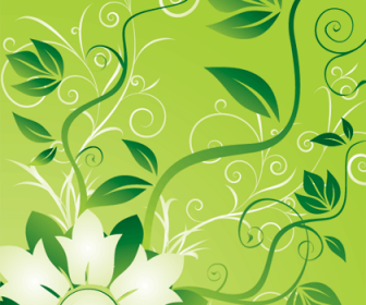 Free Vector Graphic - Flowers and Swirls